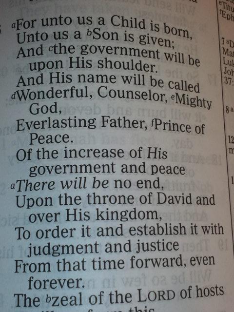 Isaiah 9:6 NKJV