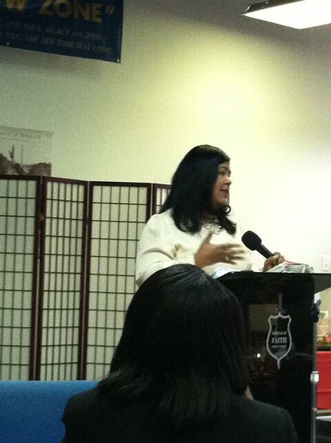 Speaking at Shield of Faith Christian Center
