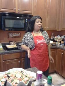 Me - the hostess!